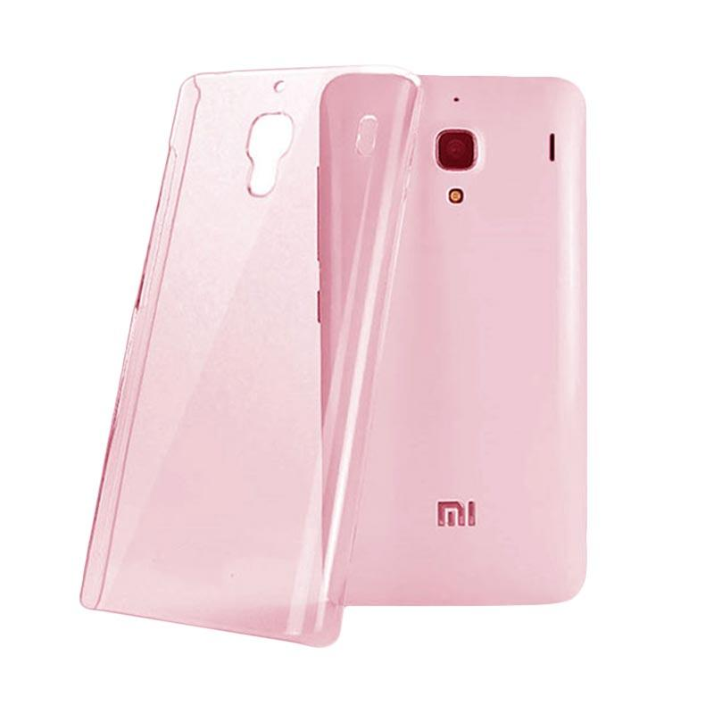 OEM Ultrathin Jelly Softcase Casing for Xiaomi Redmi Note - Peach