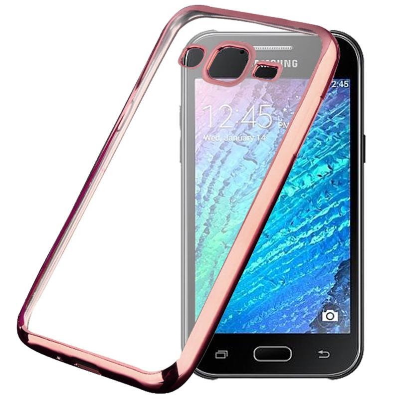 Ultrathin List Chrome Casing for Samsung Galaxy J2 - Rose Gold