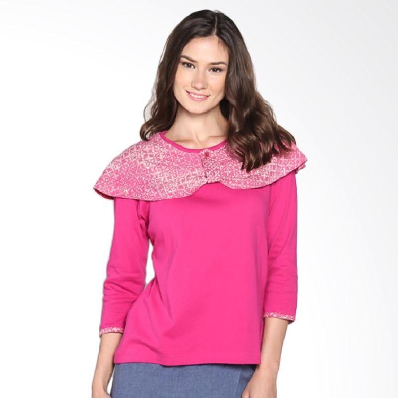 harga Fafa Collection 006 Nouna Kaos Long Sleeves Batik Wanita - Hot Pink Blibli.com