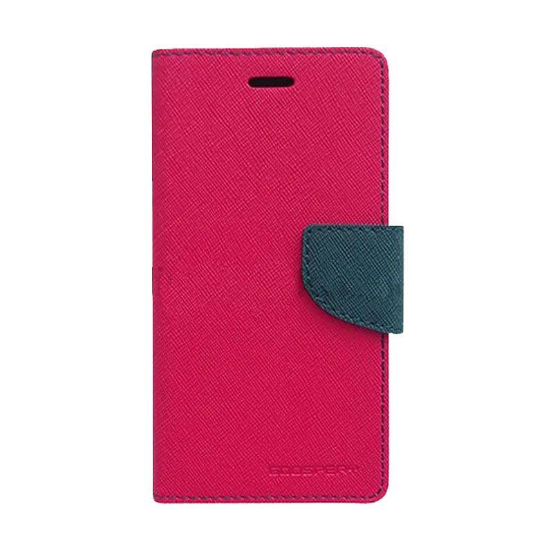 Mercury Fancy Diary Casing for iPhone 4S - Magenta Biru Laut
