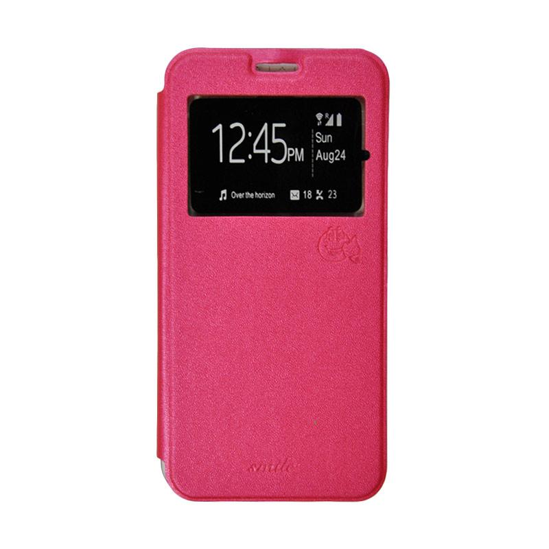 Smile Flip Cover Casing for Samsung Galaxy Grand Neo - Hot Pink
