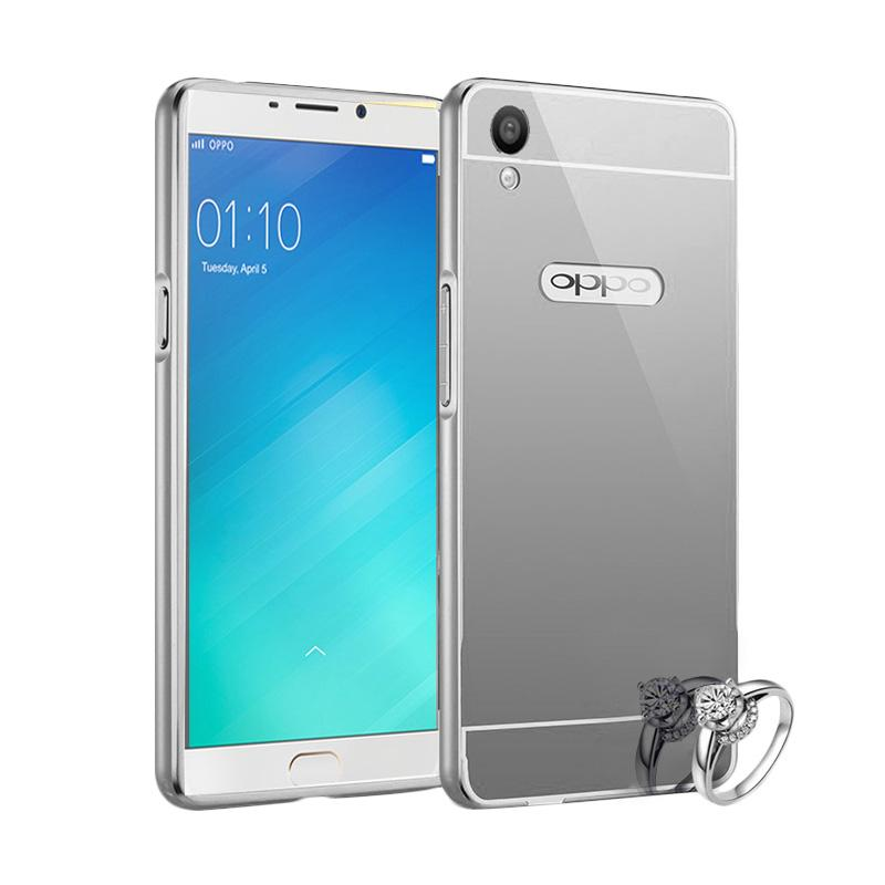 Jual Case Bumper Chrome With Backcase Mirror Casing for Oppo F1 Plus - Silver Online –
