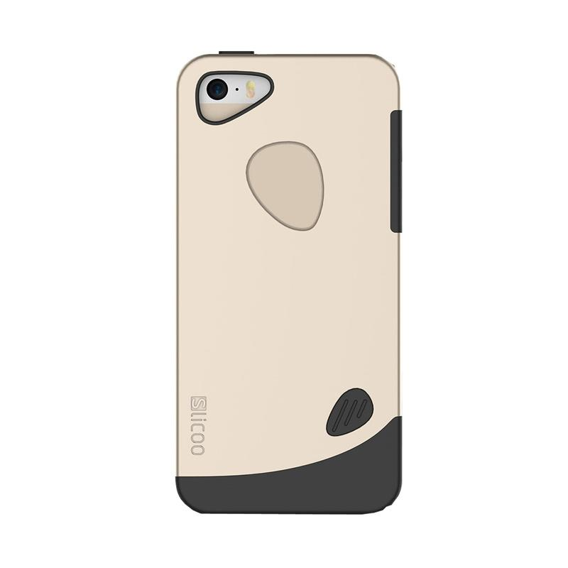 Slicoo Frosted Back Side Hardcase Casing for Apple iPhone 5 or 5S - Gold