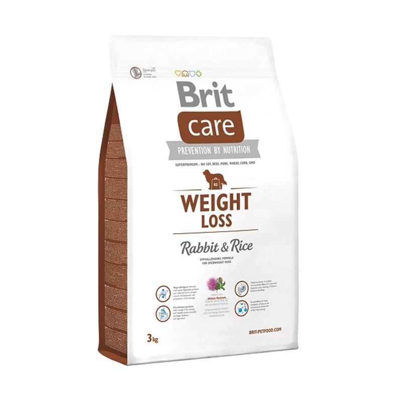 Brit Care Weight Loss  Rabbit & Rice Super Premium Dogfood Makanan Anjing [3 kg]