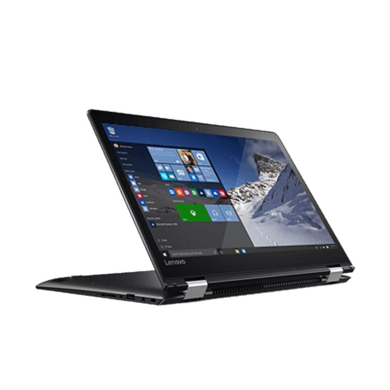 "LENOVO Flex 4-14-7200U-8GB-256GB Notebook - Black [i5-7200U/8GB/256GB SSD/AMD R5 M430-2GB/14"" FHD/Touch/Win10]"