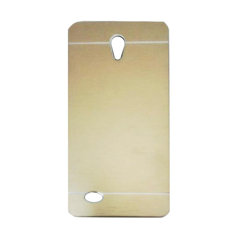 Motomo Metal Hardcase Backcase Casing for Oppo Joy 3 or A11W - Gold