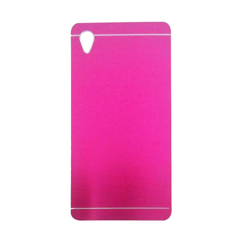 Motomo Metal Hardcase Backcase Casing for Sony Xperia M4 - Pink