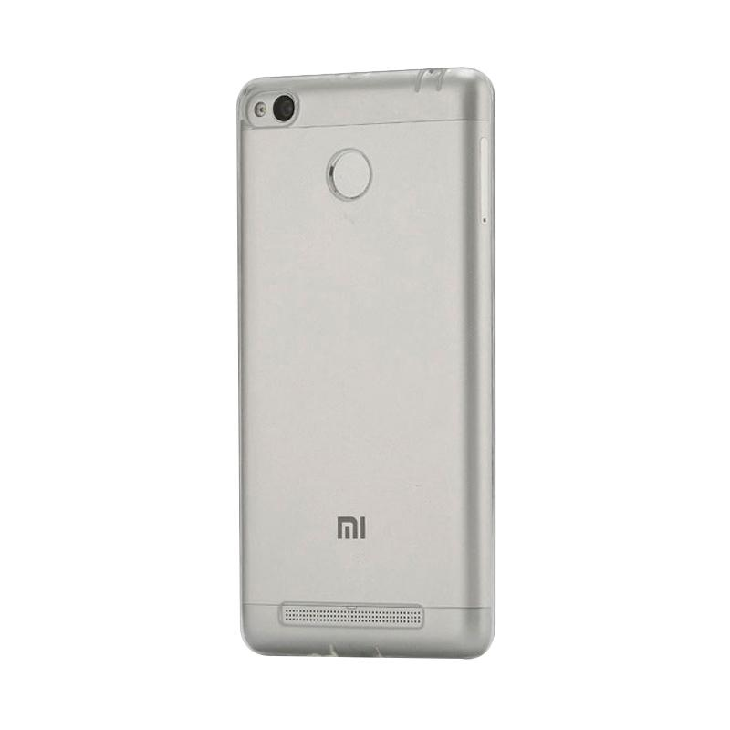 OEM Ultrathin Jelly Softcase Casing for Xiaomi Redmi 3 Pro - Grey