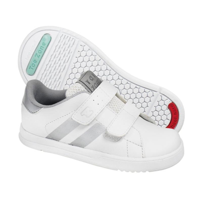Toezone Kids Flagstaff Ch Sepatu Anak Pria - White Grey