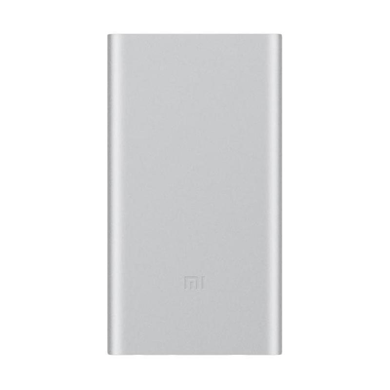 Xiaomi Original Mi Slim 2 Powerbank - Silver [10000 mAh/Garansi 6 Bulan]