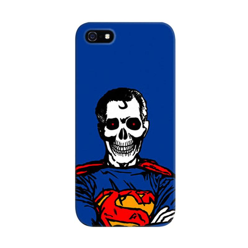 Indocustomcase Superman Dead Custom Hardcase Casing for Apple iPhone 5/5S/SE