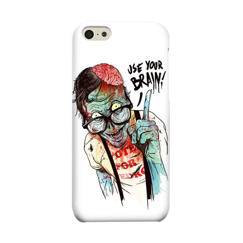 Indocustomcase Zombie Use Your Brain Cover Casing for  Apple iPhone 5C