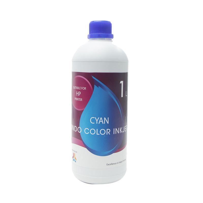 Alphabet Indo Color Inkjet Tinta Refill for Printer HP - Cyan