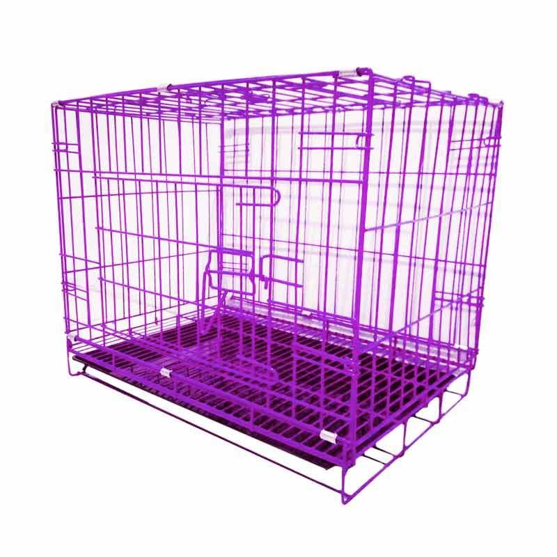harga Jawara K26 Lipat Medium Besi Kandang Untuk Anjing dan Kucing - Ungu Blibli.com