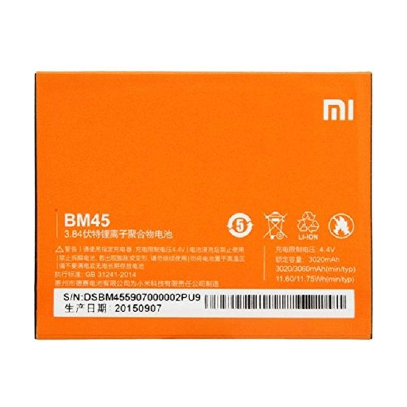 Xiaomi Original BM-45 Battery for Xiaomi Redmi Note 2 [3020 mAh]