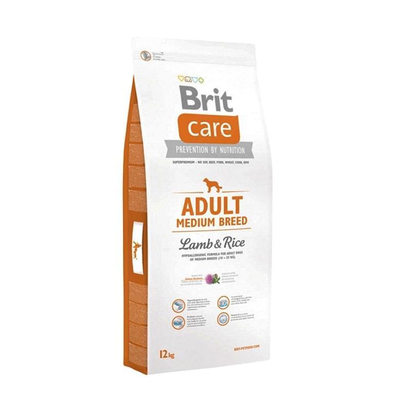 Brit Care Adult Medium Breed Lamb & Rice Super Premium Dogfood Makanan Anjing [12 kg]