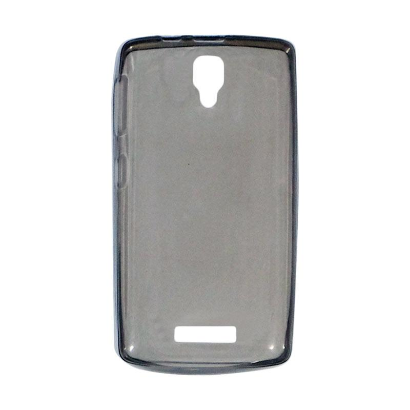 Lenovo A1000 Source QCF Ultrathin Silicone Jelly Softcase Casing for Lenovo A1000 Hitam