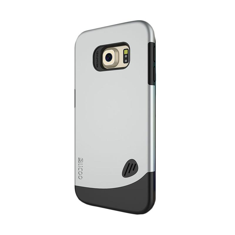 Slicoo Frosted Back Side Hardcase Casing for Samsung Galaxy S6 Edge - Silver