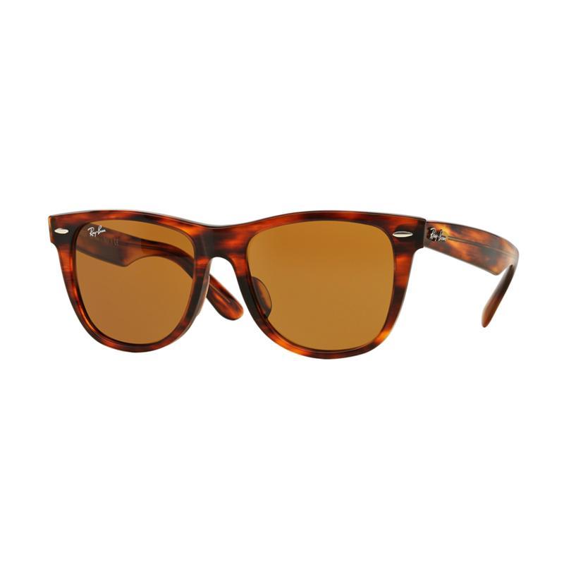 Ray-Ban Wayfarer Rb2140F Light Tortoise 954 Sunglasses - Crystal Brown [Size 52]