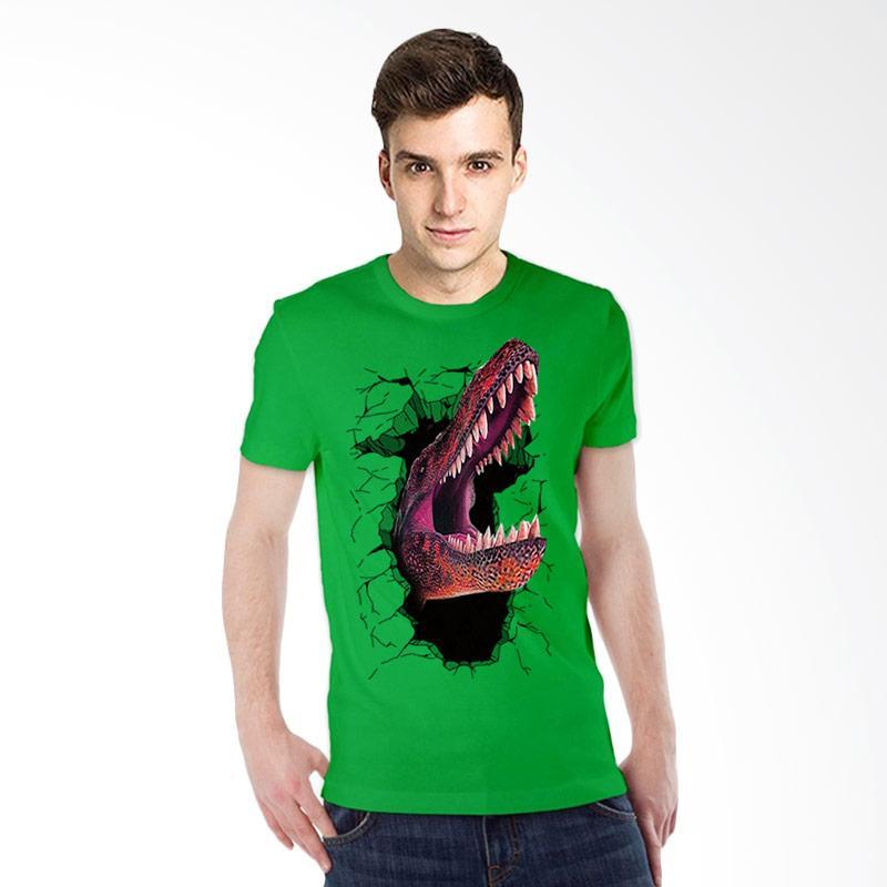 harga T-Shirt Glory Kaos 3D Dinosaurus Elegant - Hijau Tua Blibli.com