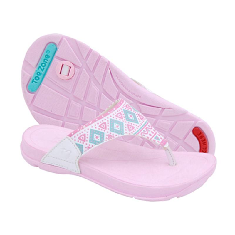 Toezone Kids Rinca Ch Sandal Anak Perempuan - White Pink