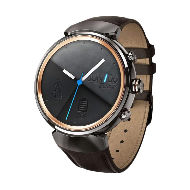 harga Asus Zenwatch 3 Black Smartwatch with Black Leather Strap WI503Q Blibli.com