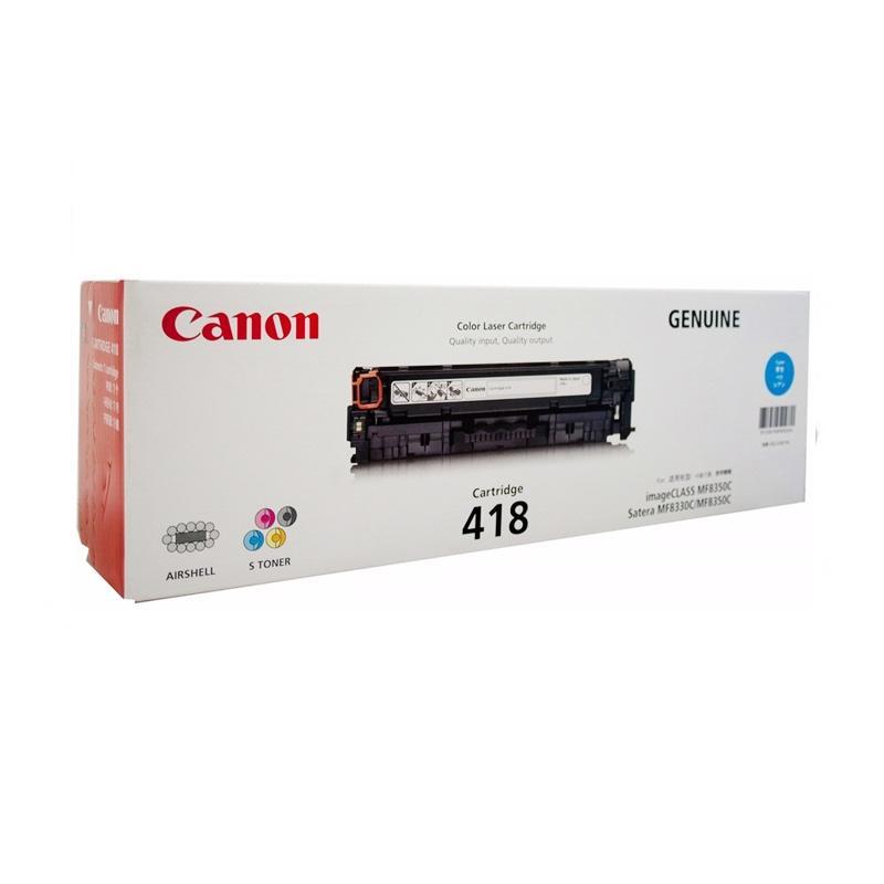 Canon 418 Original Toner for Mesin Fotocopy ICMF 8350c/8380Cdw/8580Cdw - Cyan