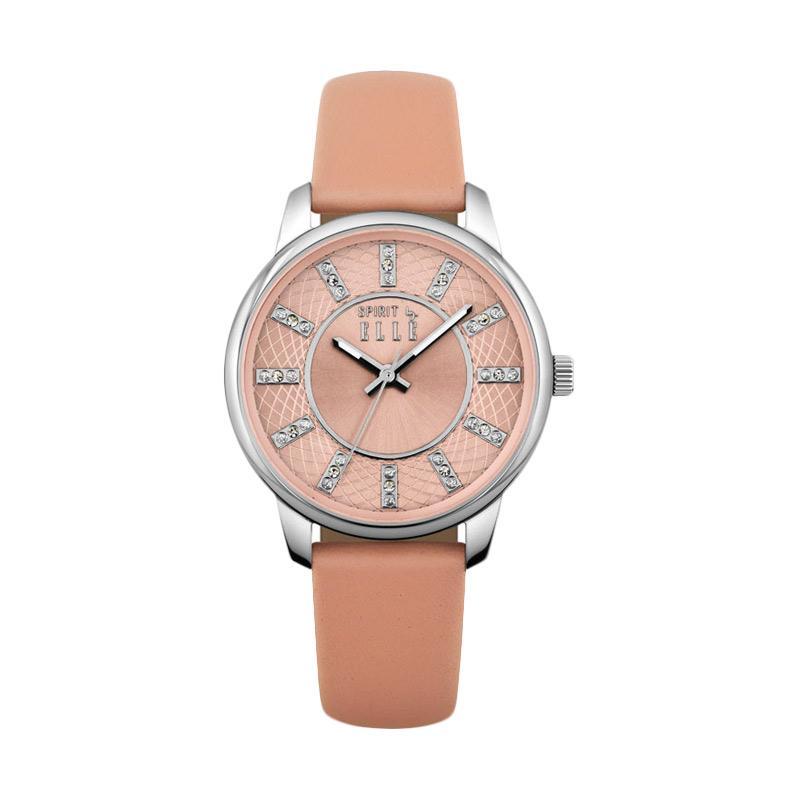 Elle Spirit ES20094S01X Leather Strap Watches Jam Tangan Wanita - Peach