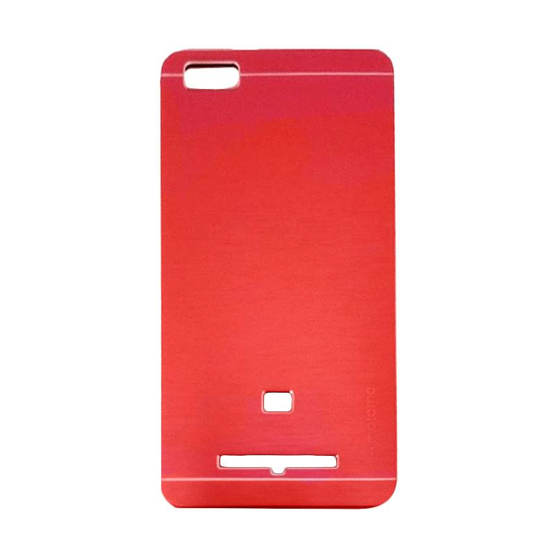 Motomo Metal Hardcase Backcase Casing for Xiaomi Mi4i or Mi 4i - Red