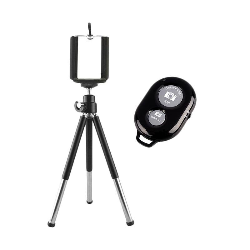 FDT Mini Tripod with Holder-U and Bluetooth Camera Shutter - Black
