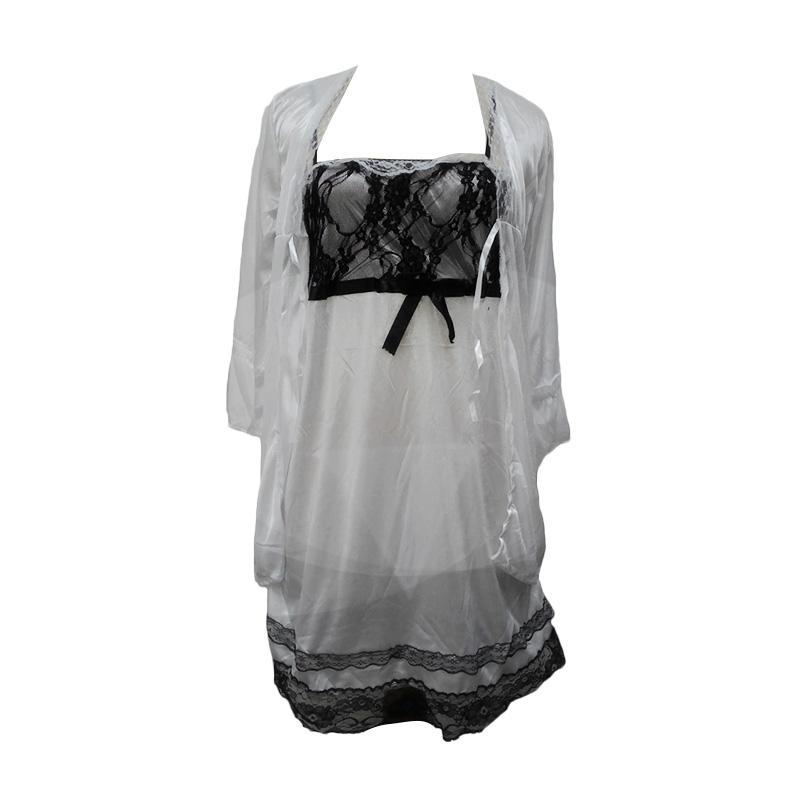 harga Jakarta Lingerie JLD016 White Kimono Fullset 3in1 Sexy Lingerie Blibli.com