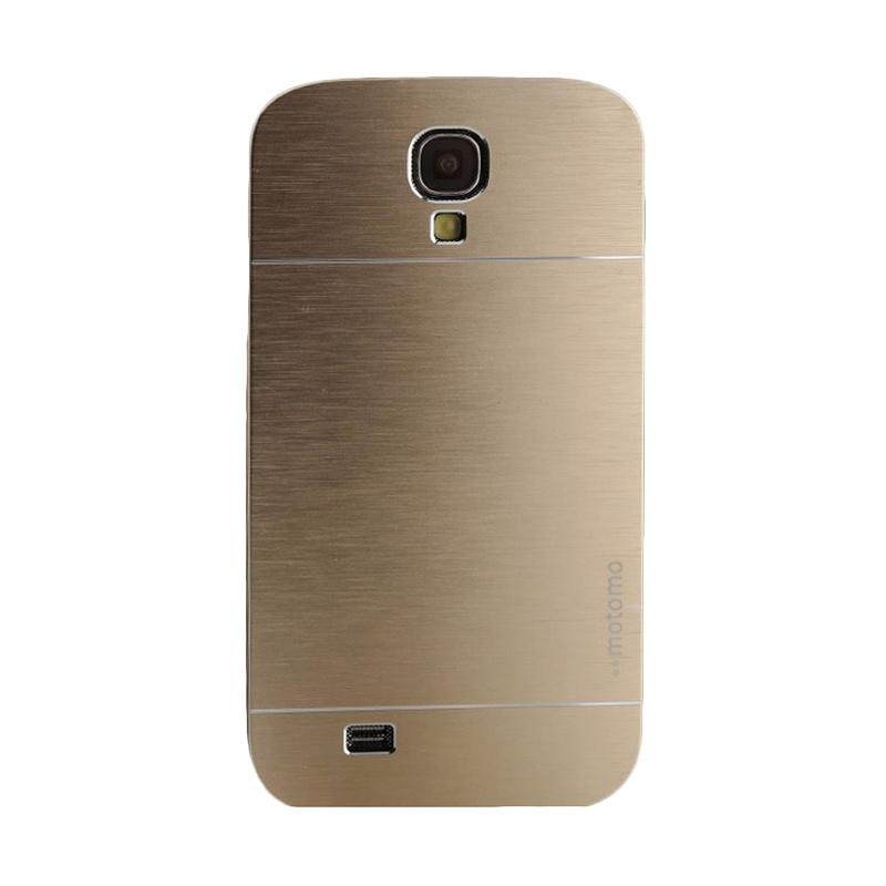 Motomo Metal Hardcase Casing for Samsung Galaxy S4 or I9500 - Gold