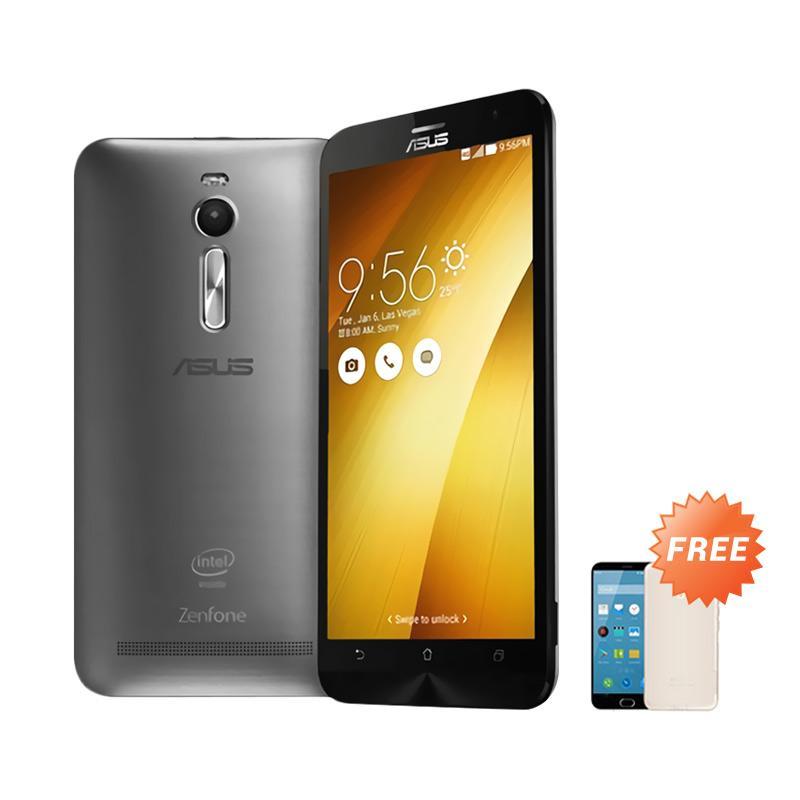 Ultrathin Aircase Casing for Zenfone 2 ZE551ML - Black Clear + Free Ultrathin