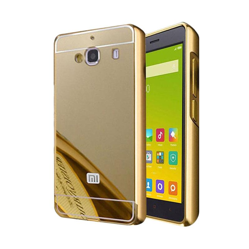Bumper Case Mirror Sliding Casing for Xiaomi Redmi 2S - Gold