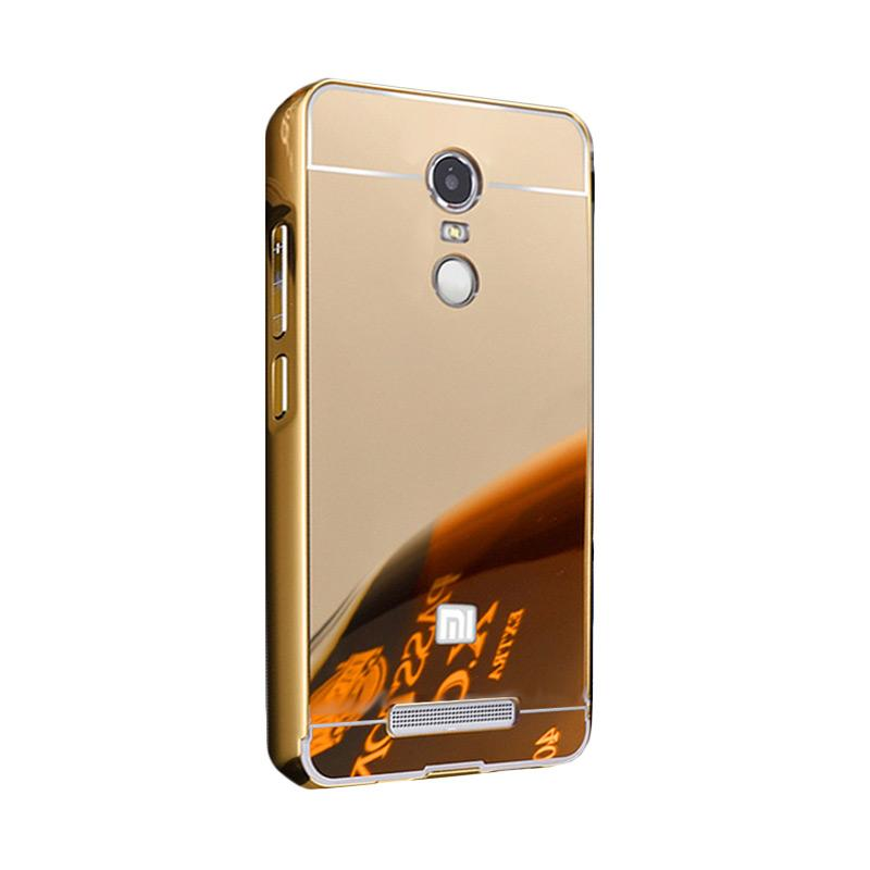 Bumper Mirror Sliding Casing for Xiaomi Redmi Note 4 - Gold