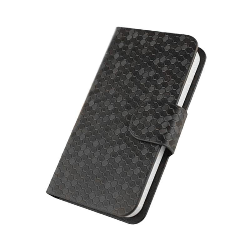 harga OEM Glitz Flip Cover Casing for Samsung Galaxy J3 2017 or J3 Pro - Hitam Blibli.com