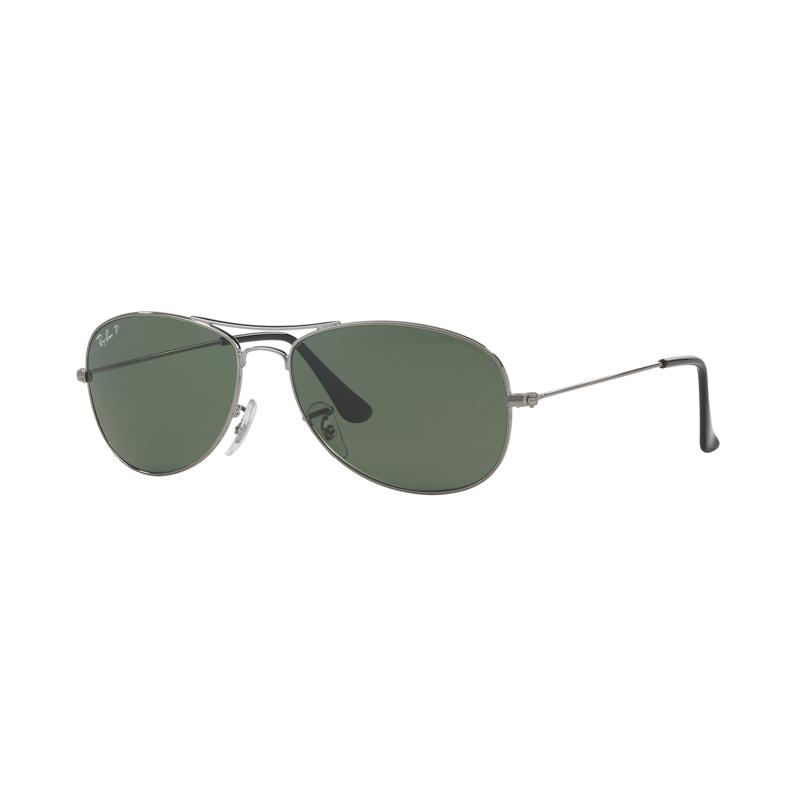 Ray-Ban Cockpit Rb3362 - Gunmetal [004-58/Size 59/Crystal Green Polarized]