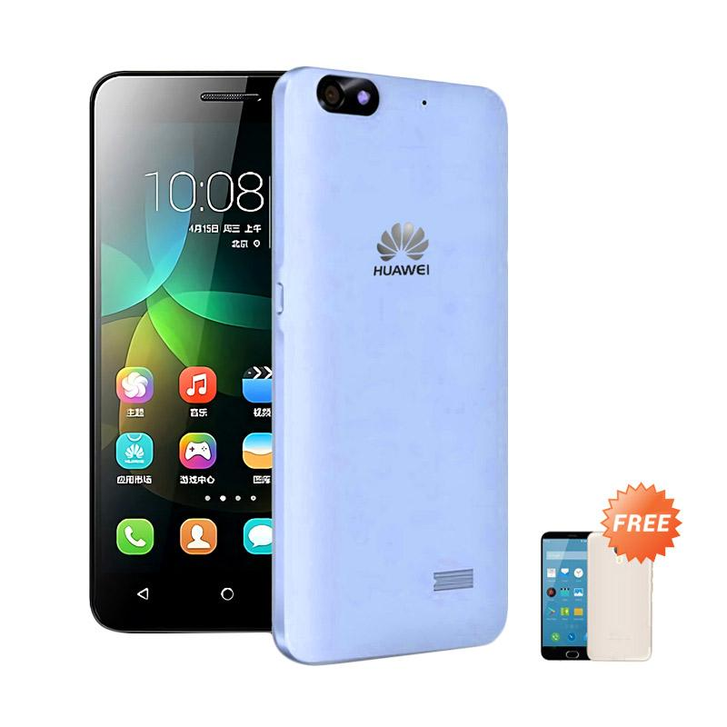Ultrathin Casing for Huawei Honor 4c - Blue Clear + Free Ultra thin