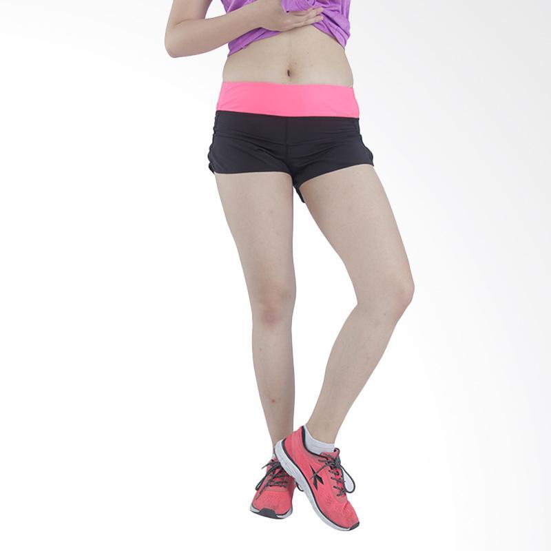 90 Degree Boost Women Short Celana Olahraga Wanita - Black Pink SHW3020