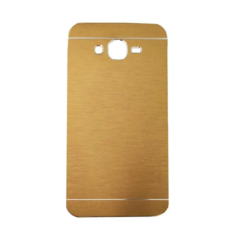 Motomo Metal Hardcase Casing for Samsung Galaxy J7 or J700F - Gold