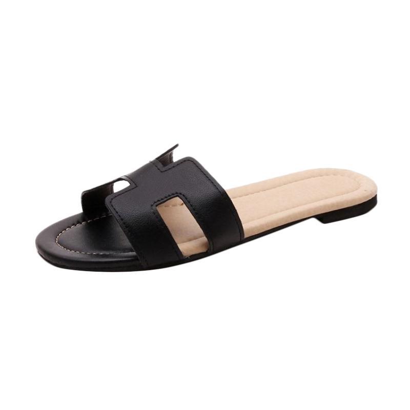 Khalista Collection Flat Flip Flops Sandal - Hitam