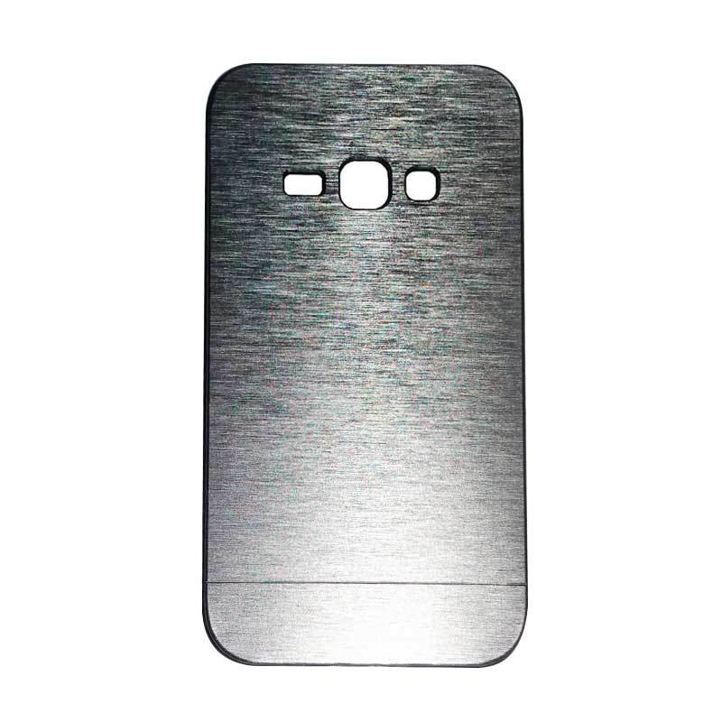 Motomo Metal Hardcase Casing for Samsung Galaxy J1 J100F - Silver