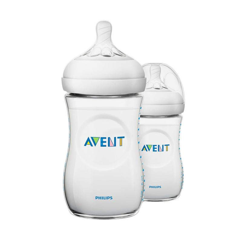 Philips Avent Natural 2.0 SCF693-23 Baby Bottle [260 mL/Twin Pack]