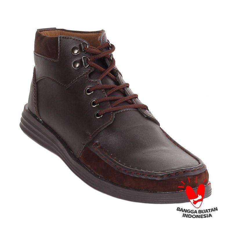 Blackkelly LSU 255 Lifeson Sepatu Sneakers Pria - Dark Brown