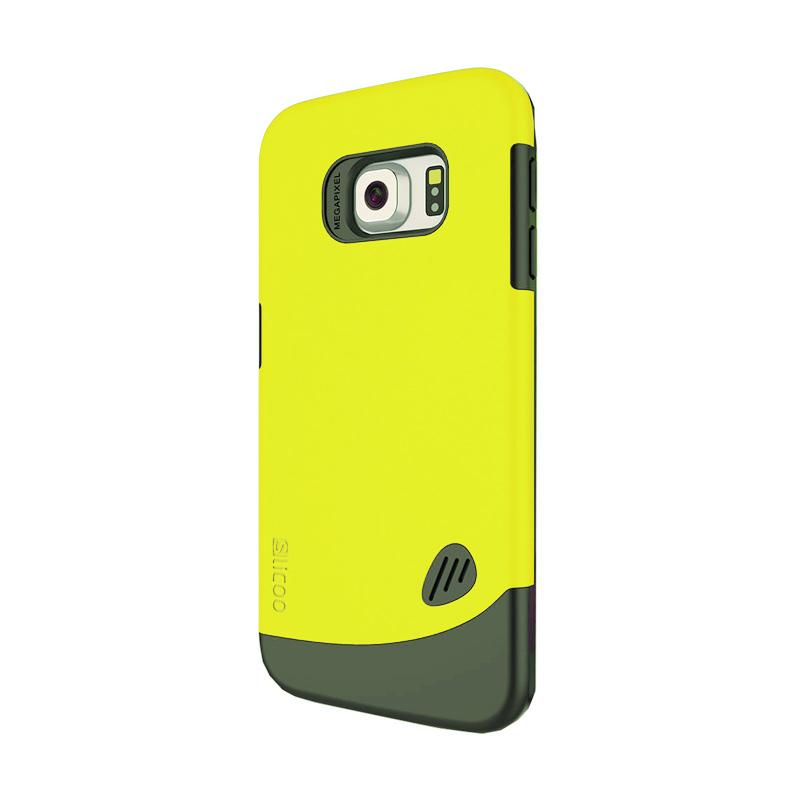 Slicoo Frosted Back Side Hardcase Casing for Samsung Galaxy S6 - Kuning
