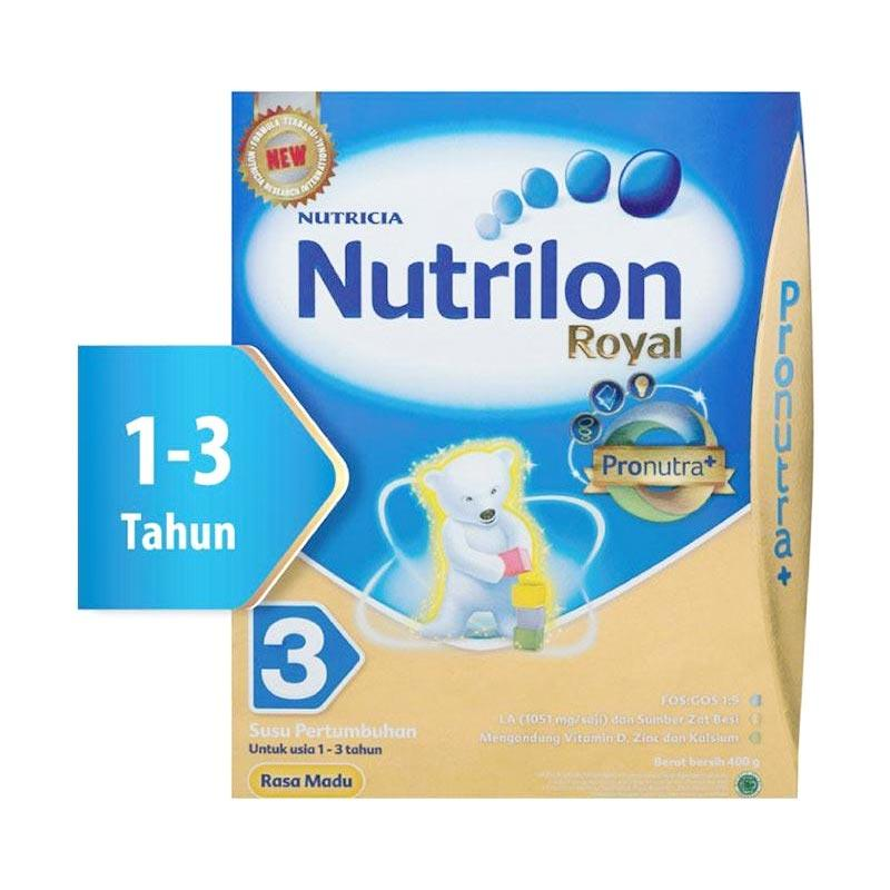 Nutrilon Royal 3 Pronutra Vanila Susu Formula [400 g/Box]