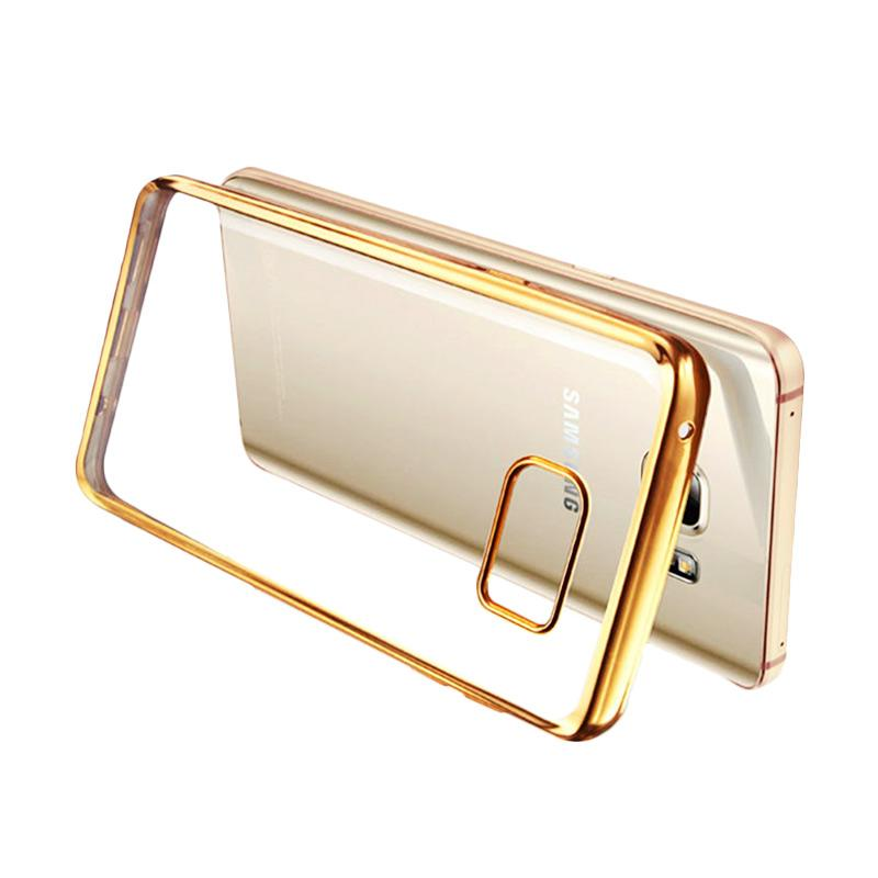 Ultrathin List Chrome Casing for Samsung Galaxy A3 2016 - Gold