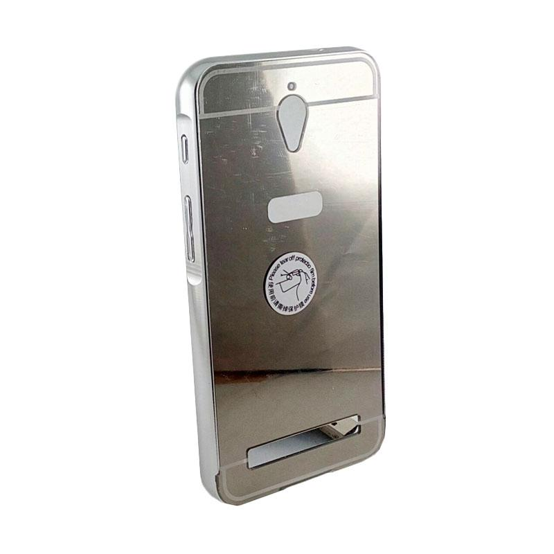 Bumper Mirror Sliding Casing for Asus Zenfone C - Silver