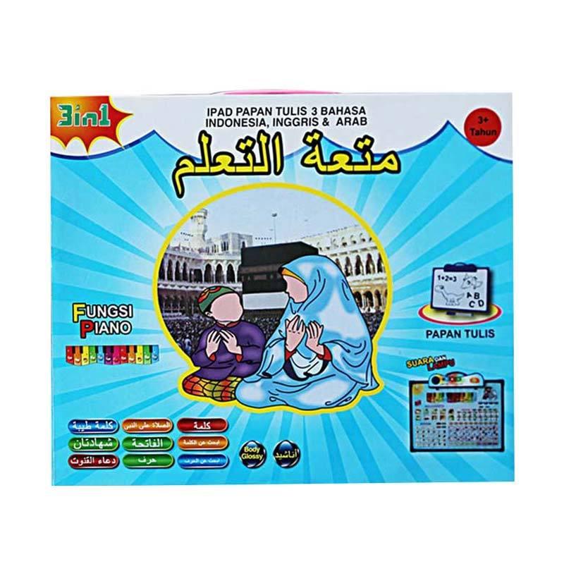 harga Mainan Anak Playpad Papan Tulis Dengan Piano Lampu LED Mainan Edukasi 3 Bahasa Blibli.com