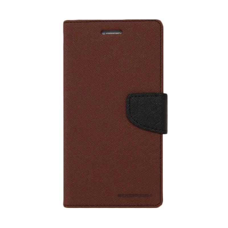 Mercury Fancy Diary Casing for Samsung Galaxy S4 Mini I9190 - Coklat Hitam
